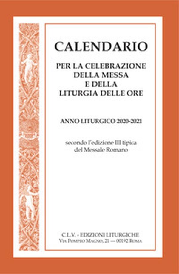 Calendario per la celebrazione della messa e della liturgia delle