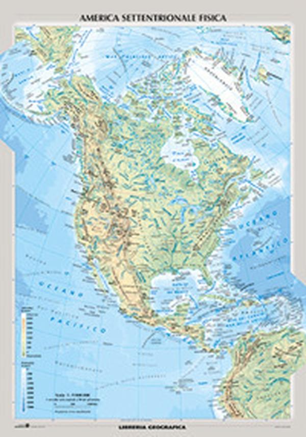 America Politica Cartina.Nord America Fisica E Politica Librerie Coop Versione Cartine